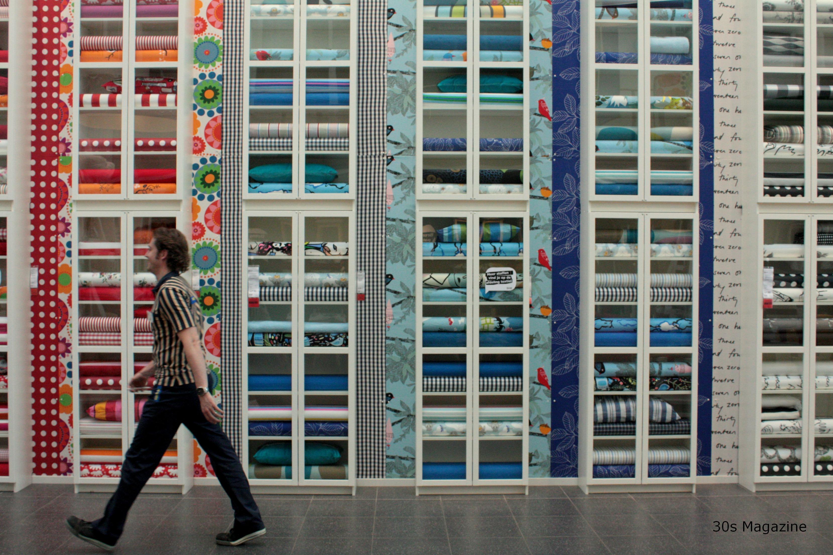 IKEA textiles wall – 30s Magazine