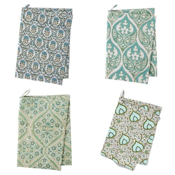 blockprinted towels