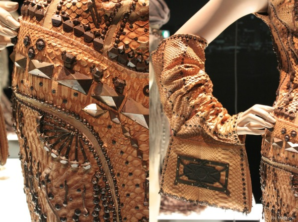Jean Paul Gautier snakeskin dress