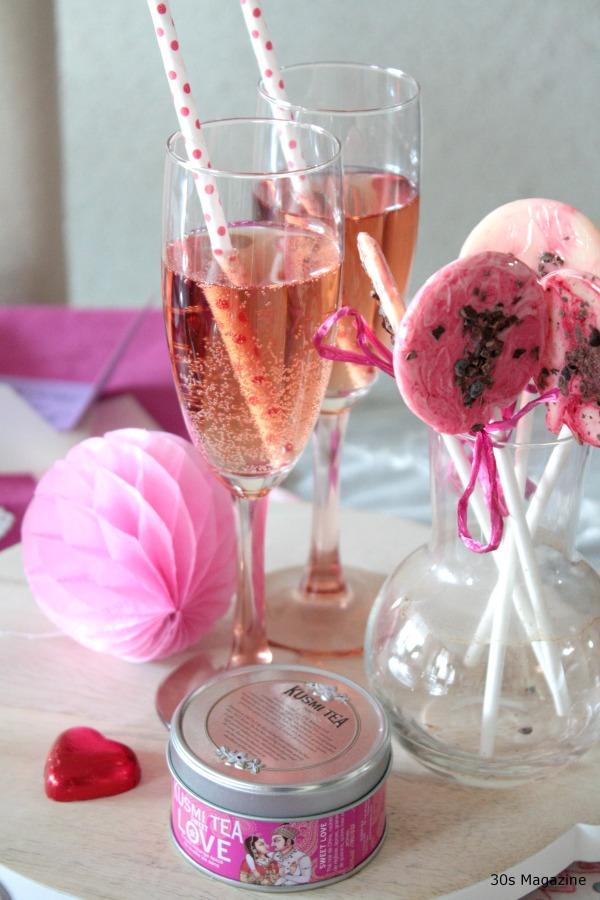 Valentine champagne