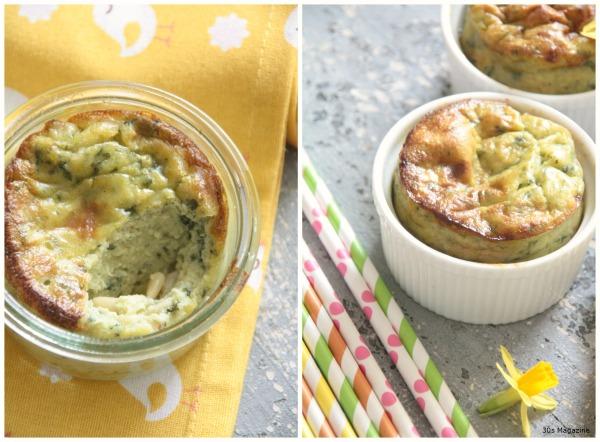 green pesto souffle
