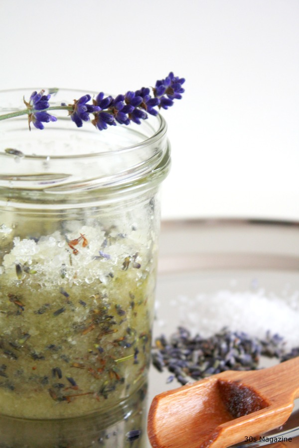 homemade lavender scrub