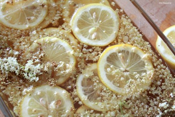 elderflower syrup making