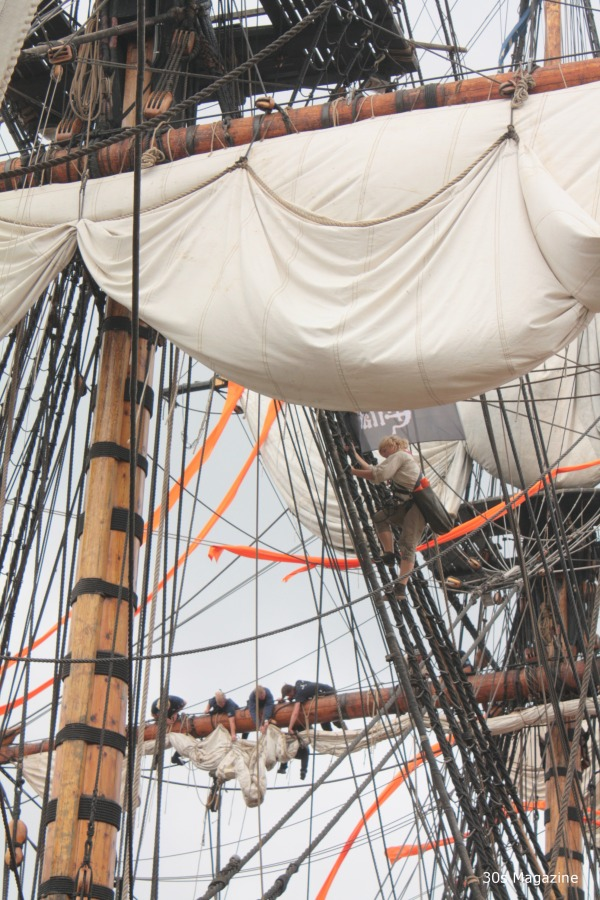 sailors in ropes