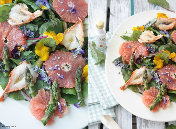 king prawn and grapefruit salad