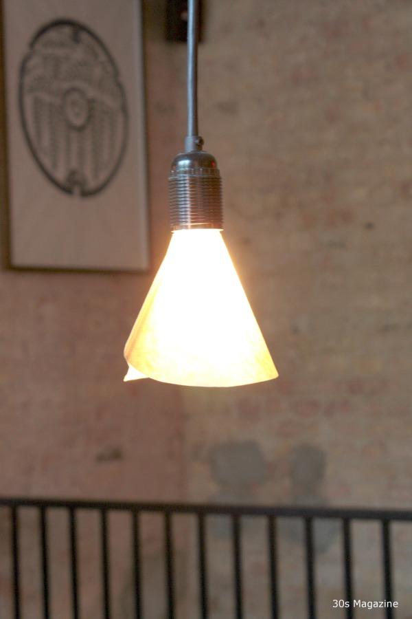 coffee filter lamp