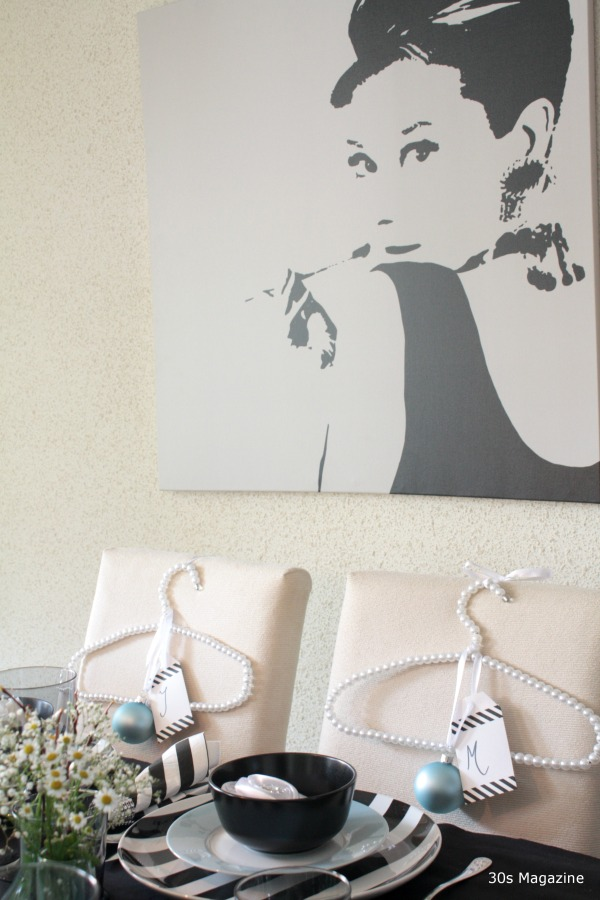 Audrey Hepburn Xmas table