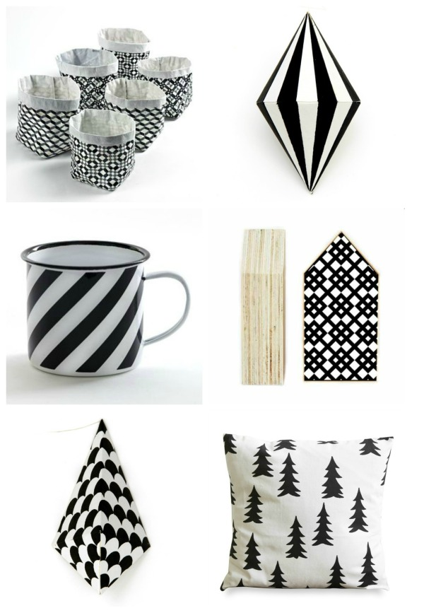 black & white Christmas products