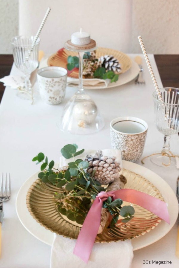 christmas tablesetting 30s magazine