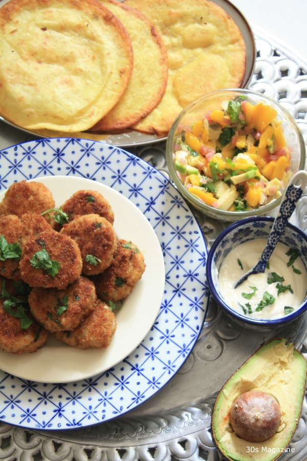 Chicken patties with fried wraps