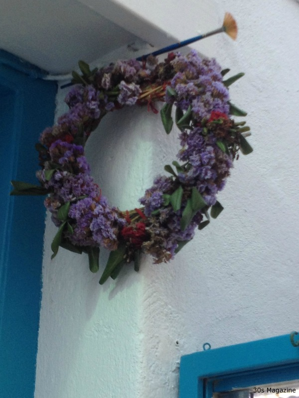 flower wreath Greece