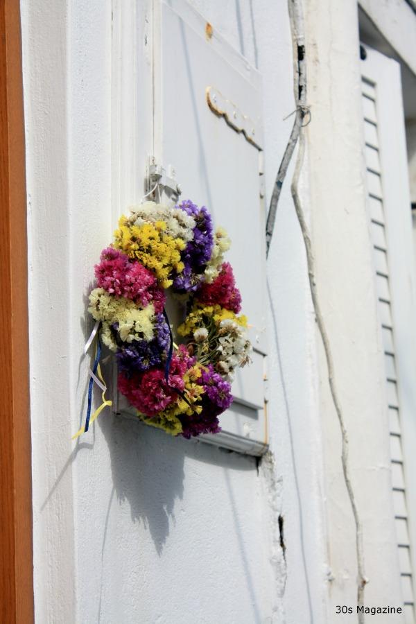 flower wreaths in Greece