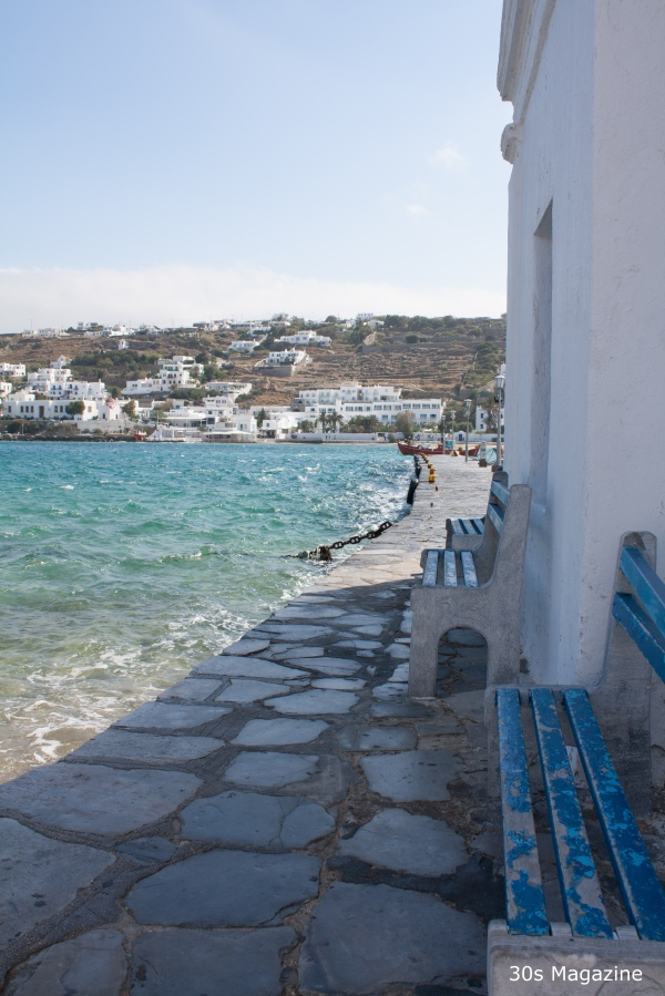 mykonos sea shore