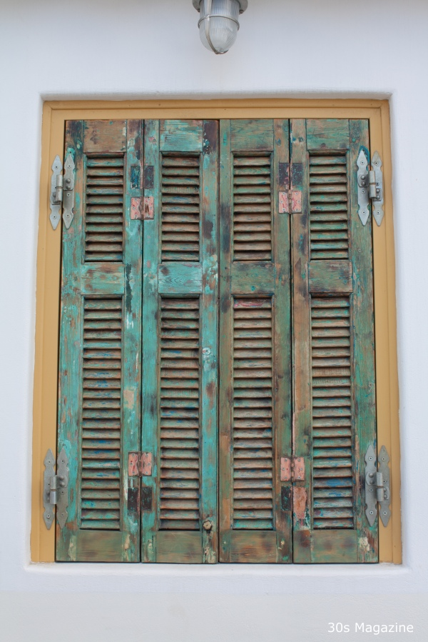 mykonos window shutter