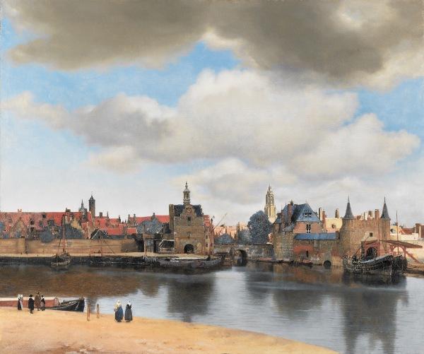 92 Johannes Vermeer View of Delft, c. 1660-1661 Mauritshuis, The Hague
