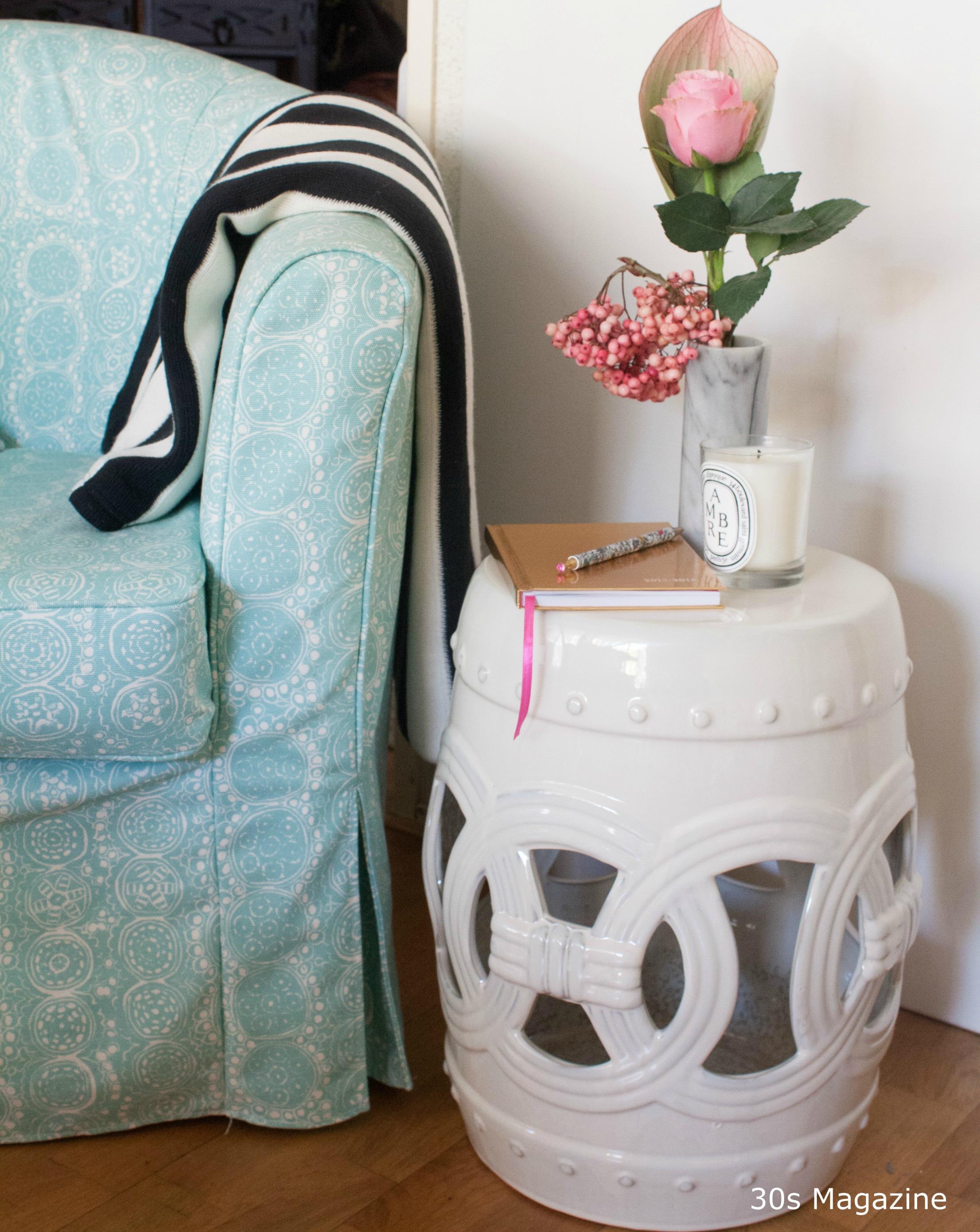 Glamourous Interior Pieces Ceramic Garden Stool 30s