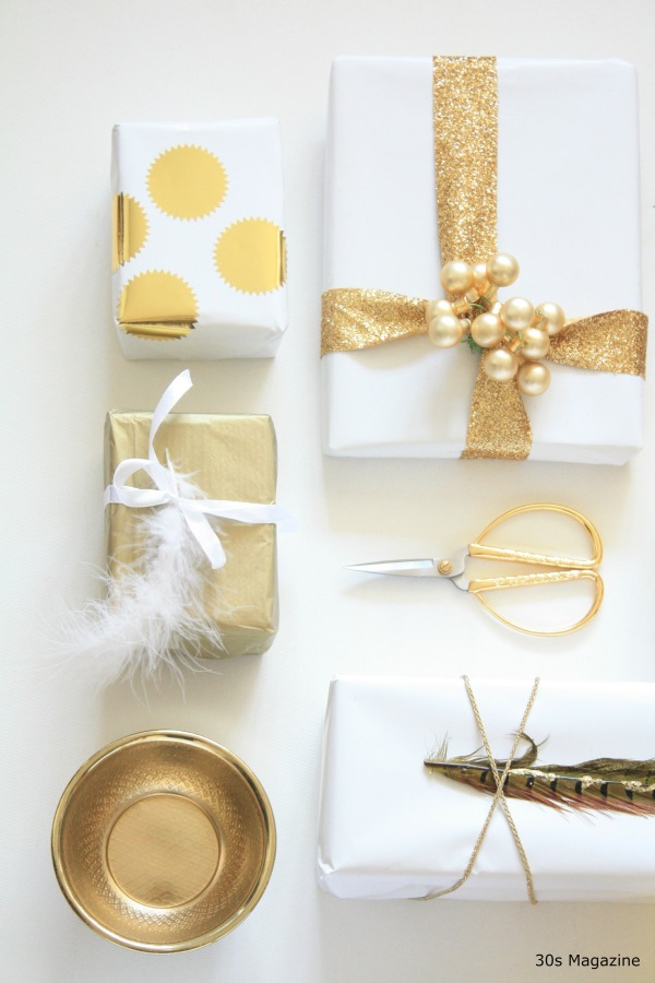 gift wrap gold by 30smagazine