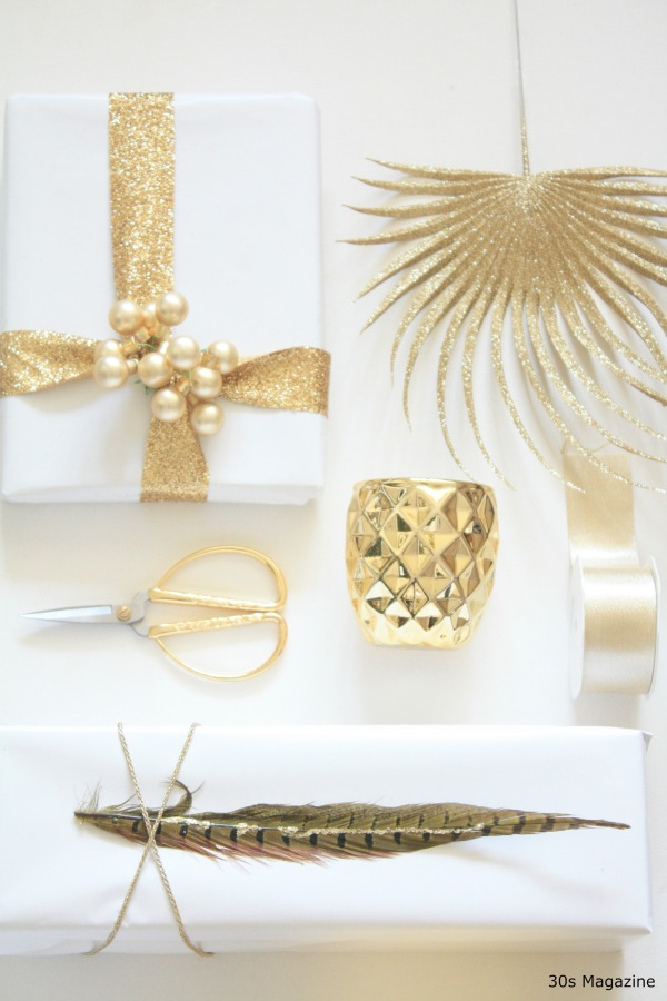 gifts in white and gold by 30s magazine