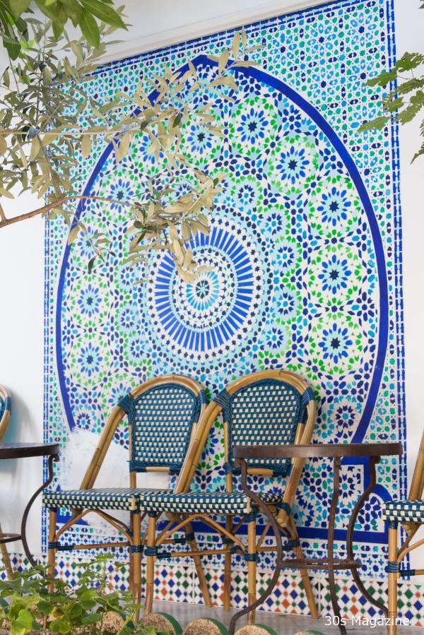 Grand Mosque in Paris tearoom