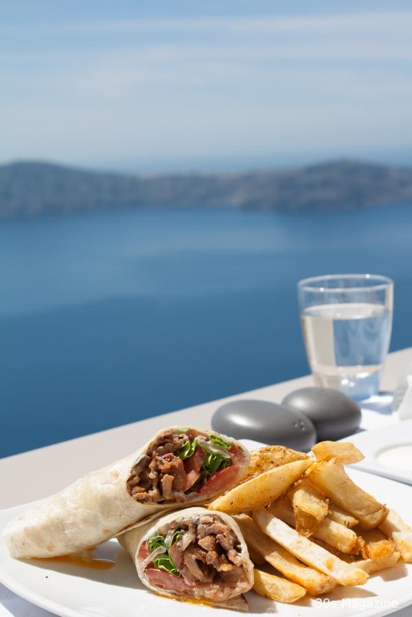 lunch at Kapari hotel Santorini