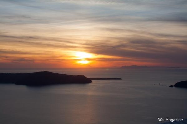sunset dinner at Kapari hotel Santorini