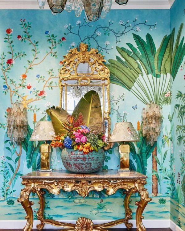 Aquazzura for de Gournay Wallpaper